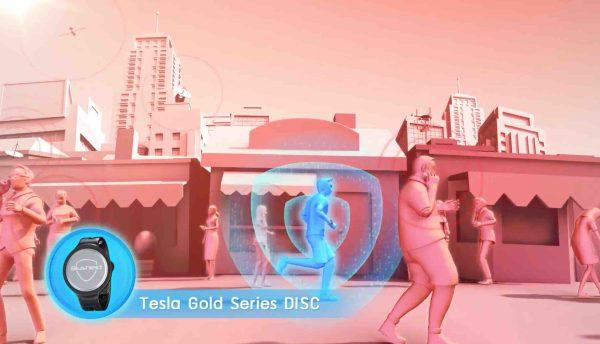 Tesla Gold Series Disc for CoolestMeditationEver.com