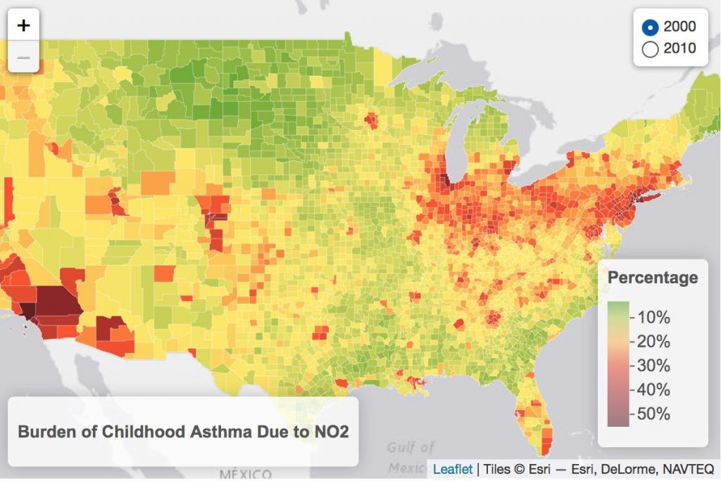 Mapping Childhood Asthma 2000