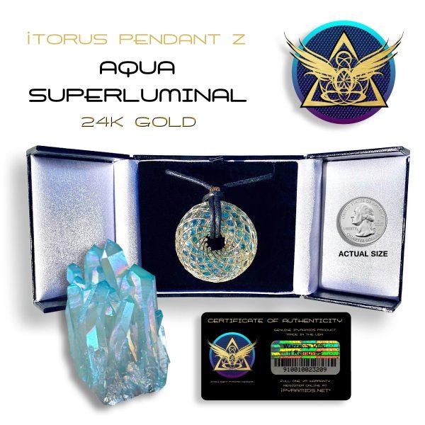 iTorus Aqua-Gold Pendant