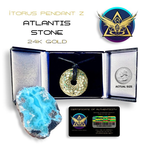 Atlantis Gold Orgone Pendant iTORUS