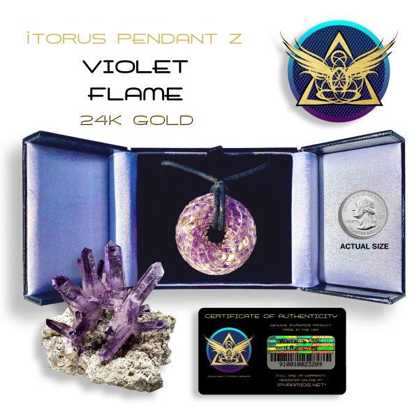Violet Gold Orgone iTORUS Pendant