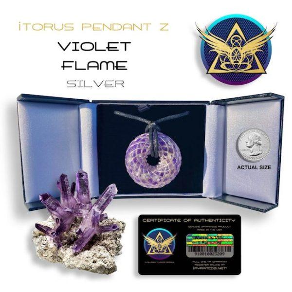 violet_silver_iTORUS Orgone Pendant